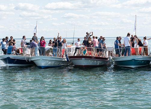 moment de partage sur bateau avec les équipes epsa
